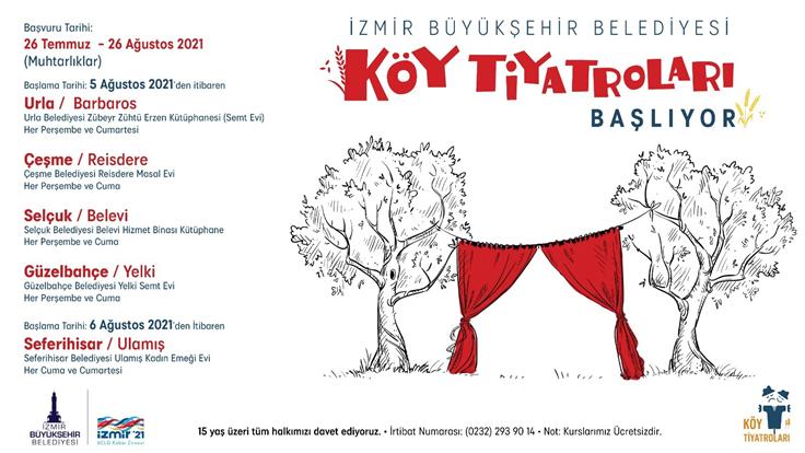İzmir'de amatör yeteneklere tiyatro eğitimi verilecek