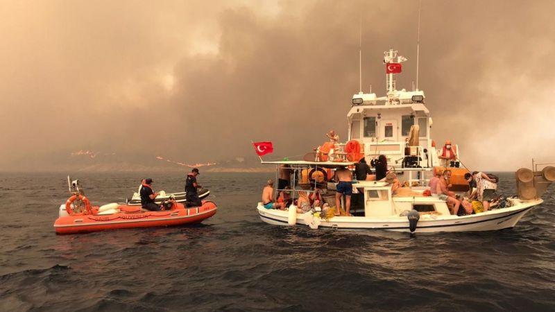 Sahil Güvenlik de Orman yangınları için sahada