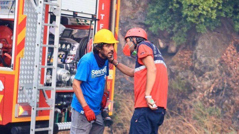 Bakan Koca, orman yangını alanlarında görevli UMKE ekiplerini paylaştı