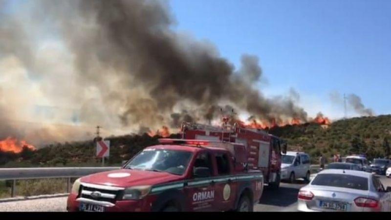 Balıklıova'daki yangın yeri soğutuluyor