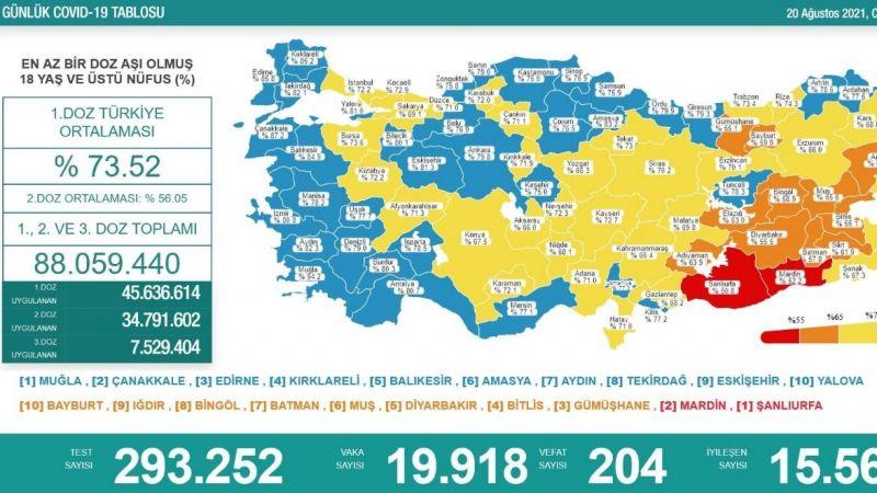 Son Coronavirüs raporu: 204 vefat
