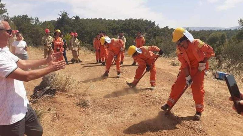 Gaziemir Ormanlarının Gönüllülerine Yangın Eğitimi Verildi