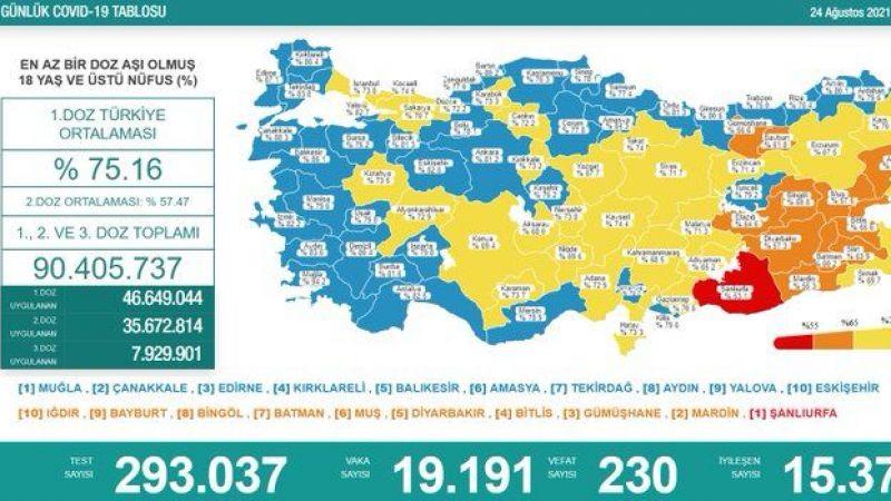 Kovid-19 raporu: Vefat edenlerin sayısı 230 oldu