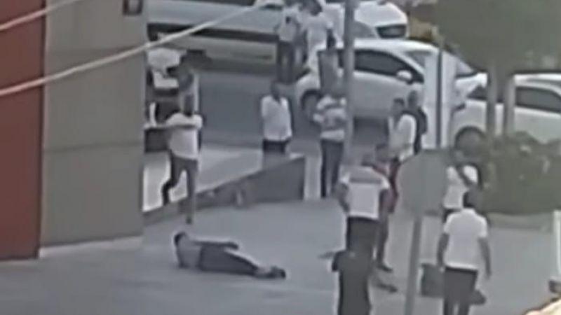 Belediye önünde silahlı çatışma 2 kişi yaralandı