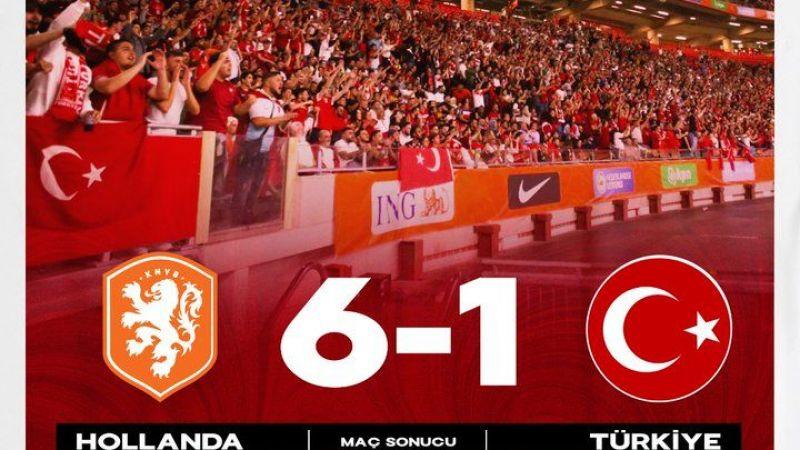 2022 FIFA Dünya Kupası Elemeleri: Hollanda'ya 6-1 yenildik