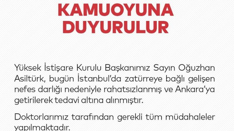 Oğuzhan Asiltürk, hastaneye kaldırıldı