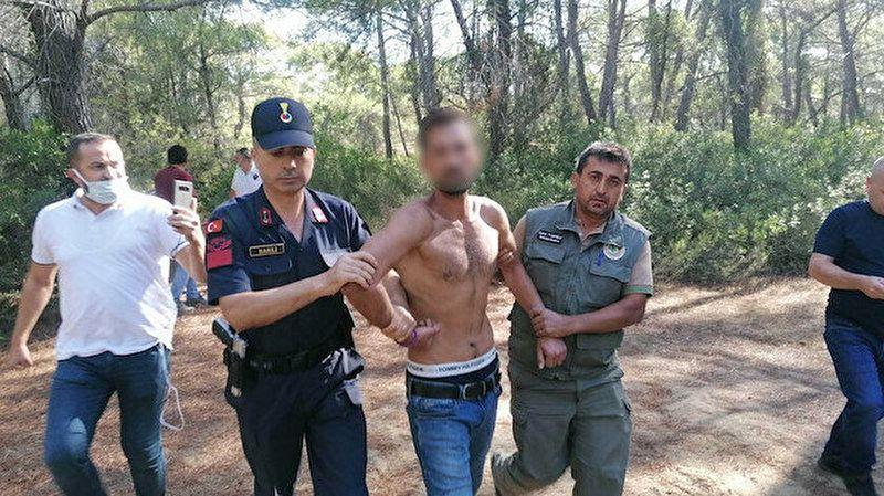 Orman teröristi yakalandı