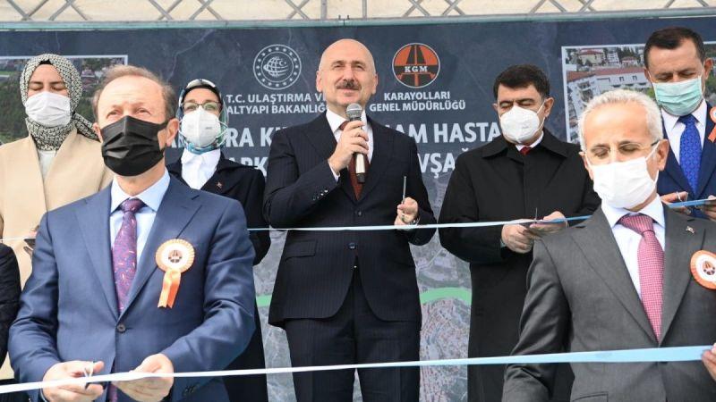 Karaismailoğlu Ankara'da kavşak açtı