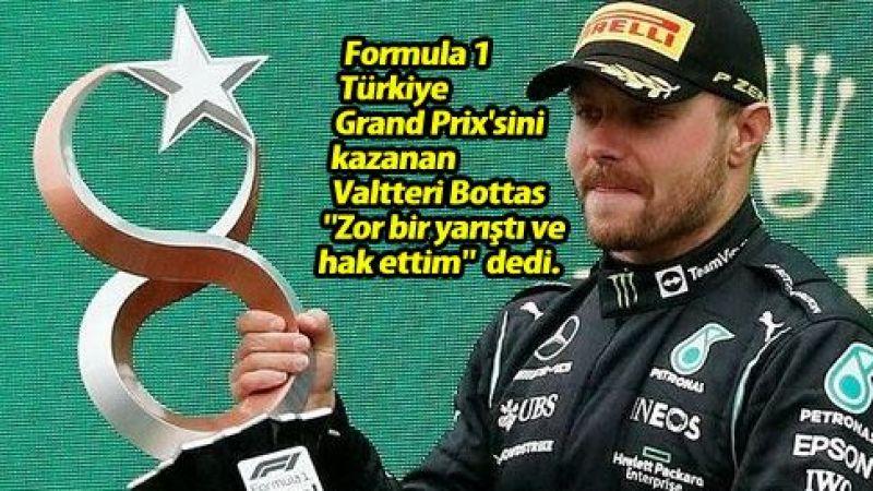 Formula 1: Türkiye GP'de kazanan Valtteri Bottas oldu