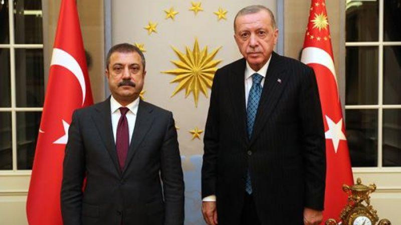 Erdoğan, TCMB Başkanı Kavcıoğlu'nu kabul etti