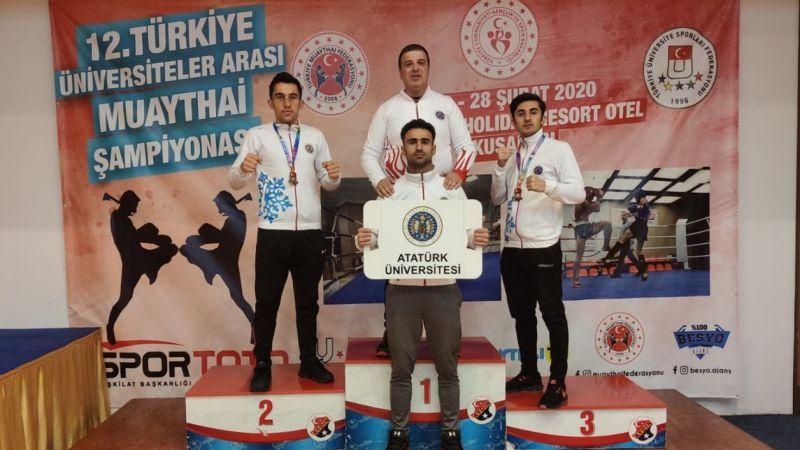 Atatürk Üniversitesi, Muay Thai'de Kürsüden İnmedi