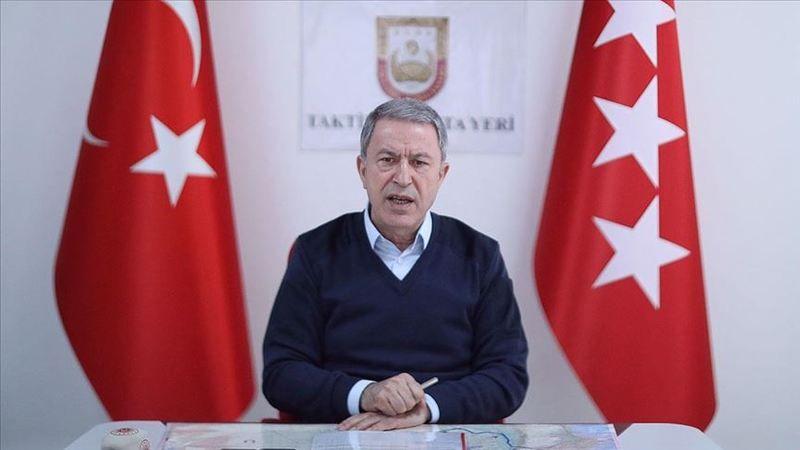 Bakan Akar: Bahar Kalkanı Harekatı'nda 2557 rejim unsuru etkisiz hale getirildi