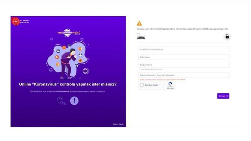 Sağlık Bakanlığının koronavirüs riskinin sorgulandığı internet sitesine bir saatte 100 bin ziyaret