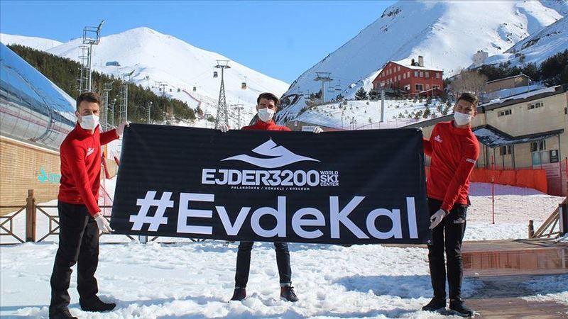 Palandöken'deki kayak heyecanı Kovid-19 nedeniyle sona erdi