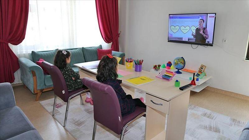 Devlet korumasındaki çocuklar derslerini TRT ve EBA TV'den takip ediyor