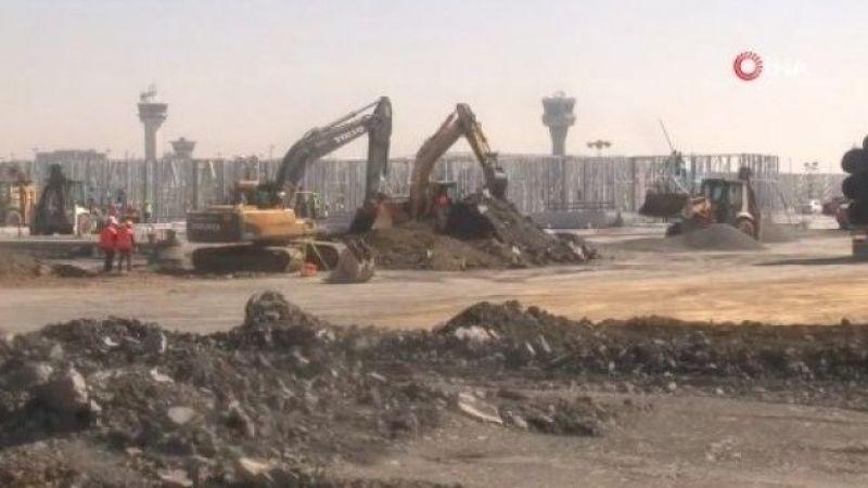 Atatürk Havalimanı pandemi hastanesinin iskeleti tamamlanıyor