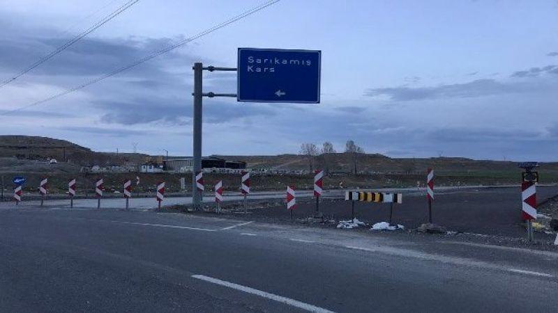 Horasan-Karakurt-Kağızman yolu trafiğe kapatıldı