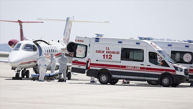 İsveç'teki Türk hasta ambulans uçakla Türkiye'ye getirildi