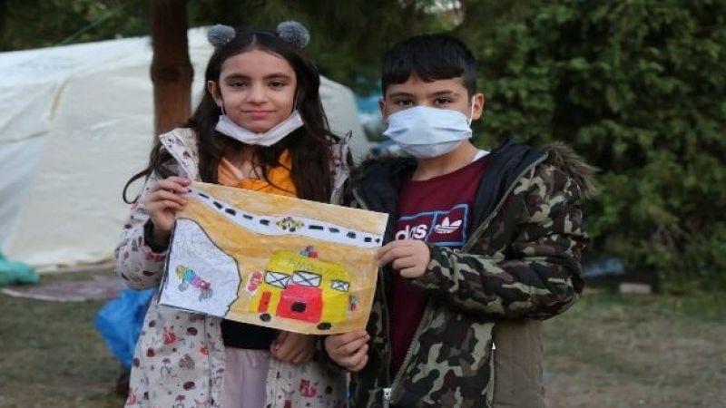 Elif'i kurtaran AFAD Erzurum ekibine Kayra ve Saltuk kardeşlerden teşekkür