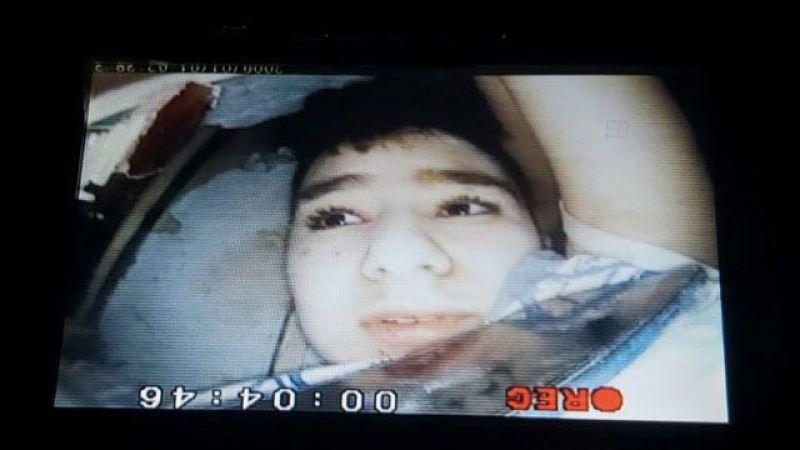 15 yaşındaki Günay Özışık'ın kurtarılma anı yılan kamera ile görüntülenmiş