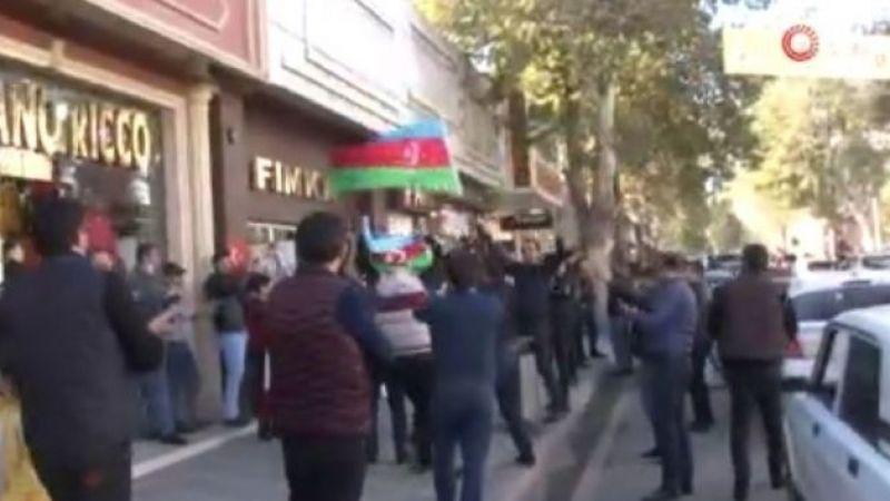 Gence'de Şuşa'nın Ermeni işgalinden kurtarılışına davullu zurnalı kutlama