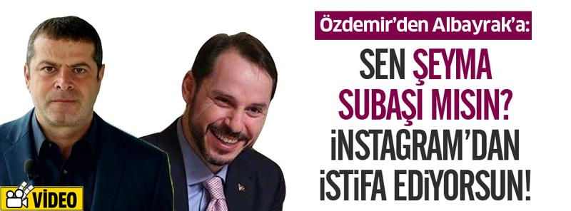 Cüneyt Özdemir'den Berat Albayrak'a: Sen Şeyma Subaşı mısın?