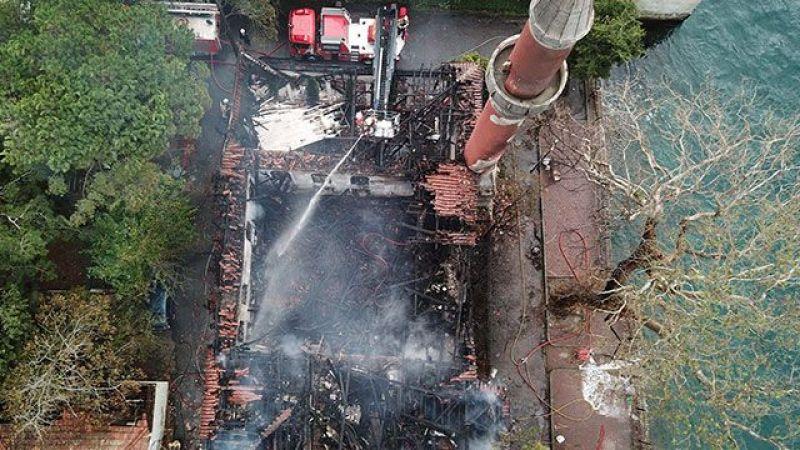 Vaniköy Camii yangınında itfaiye raporu