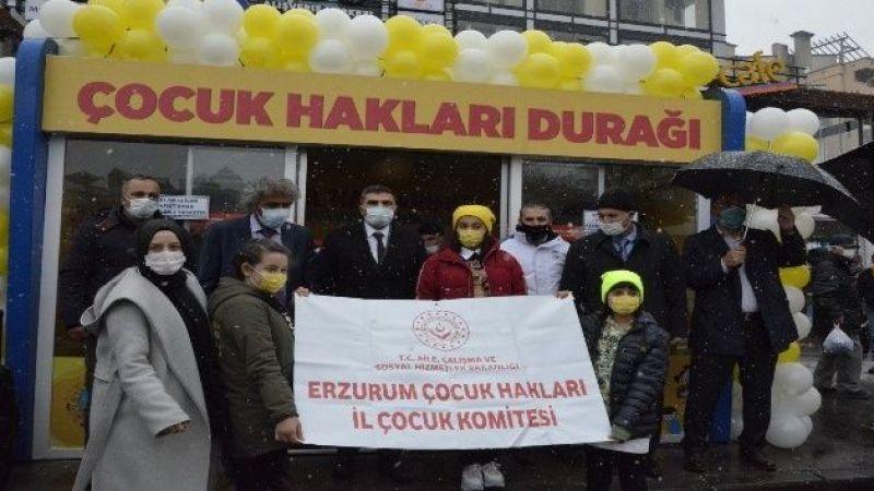 Erzurum'da 'Çocuk Hakları Durağı' açıldı