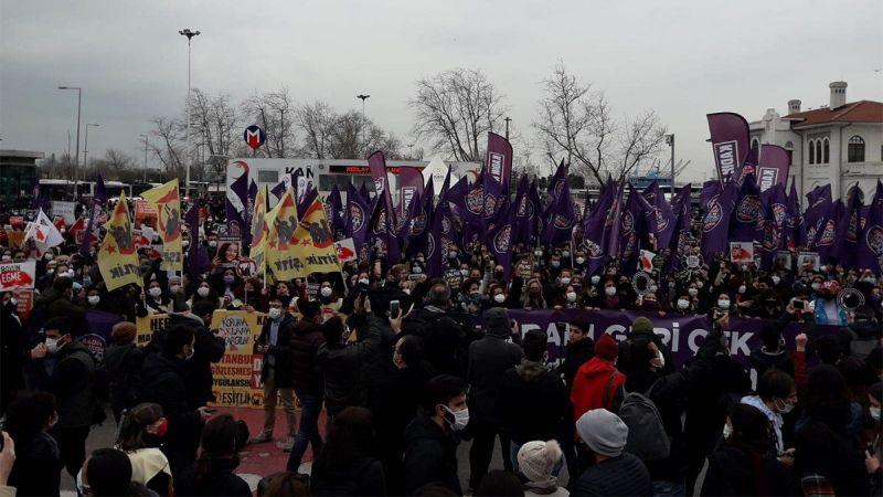 'İstanbul Sözleşmesi' feshine tepki! Sokağa döküldüler