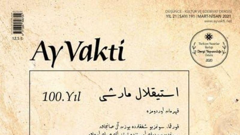 AY VAKTİ DERGİSİ, MART-NİSAN 2021/191. SAYI