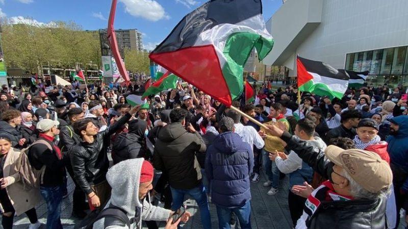 Hollanda'da Filistin'e destek gösterileri devam ediyor