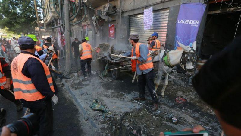 İsrail saldırısında harabeye dönen Gazze'de temizlik seferberliği