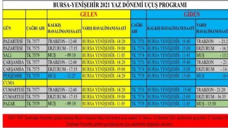 Erzurum'dan Bursa'ya uçuşlar yeniden başladı