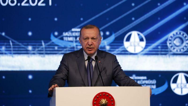 Kanal İstanbul'da ilk adım atıldı... Cumhurbaşkanı Erdoğan'dan önemli açıklamalar