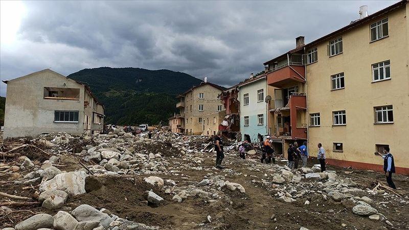 Sel felaketini yaşayan Babaçay köyü sakinlerinden evlerine hüzünlü veda