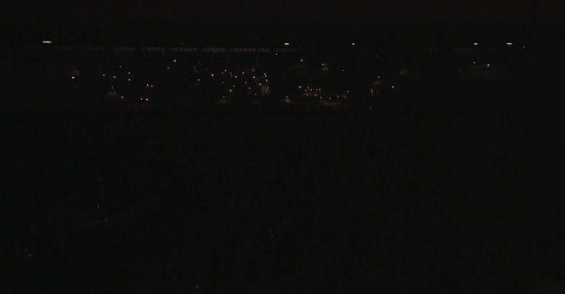 Erzurum'da karanlık gece! Son dakikada stad ışıkları söndü