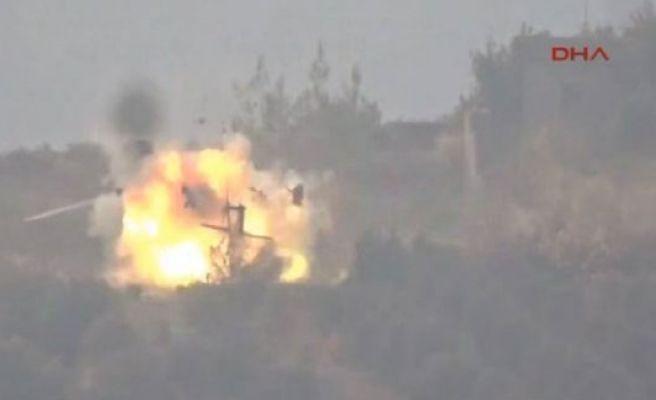 Rus helikopteri de Muhalifler tarafından vuruldu. İşte o anlar