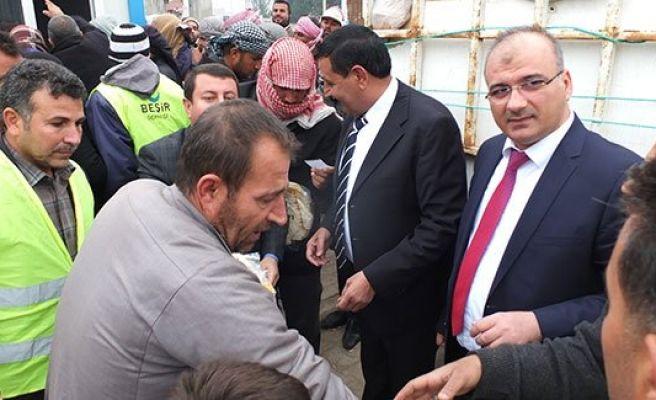 Harran'da Suriyelilere yardım