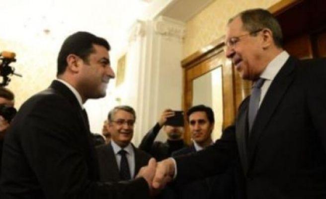 Demirtaş, Rusya'da Lavrov ile görüştü
