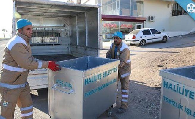 Haliliye'de çöp konteynerleri yeniledi
