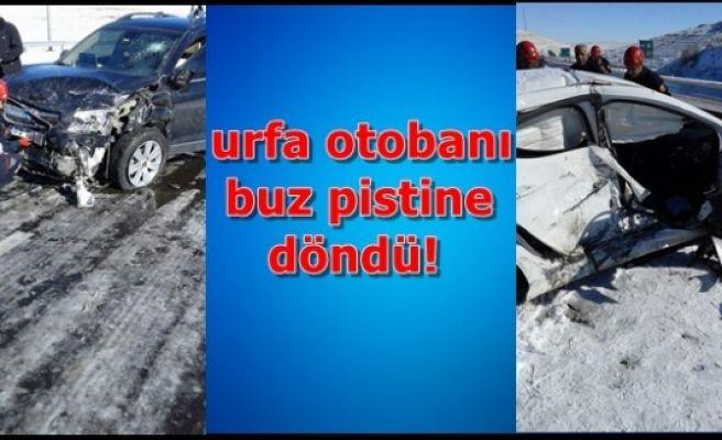 Urfa-Gaziantep yolunda kaza
