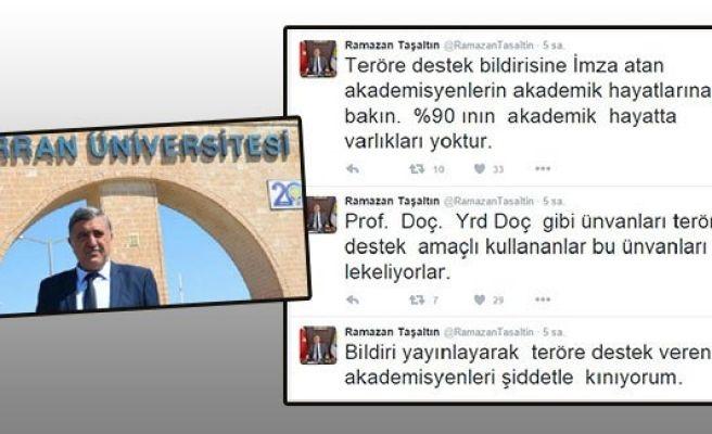 Taşaltın'dan imzacı akademisyenlere tepki