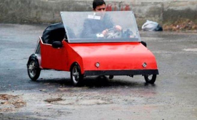 Liseli genç, güneş enerjisi ile çalışan otomobil yaptı