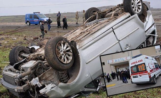 Siverek'te kaza 3 ölü, 8 yaralı