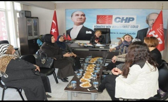 CHP Urfa Kadın Kolları istişare toplantısında