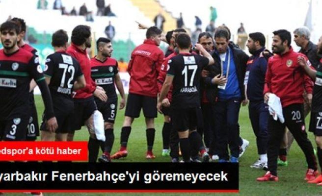 Fenerbahçe maçı öncesi Amedspor'a şok