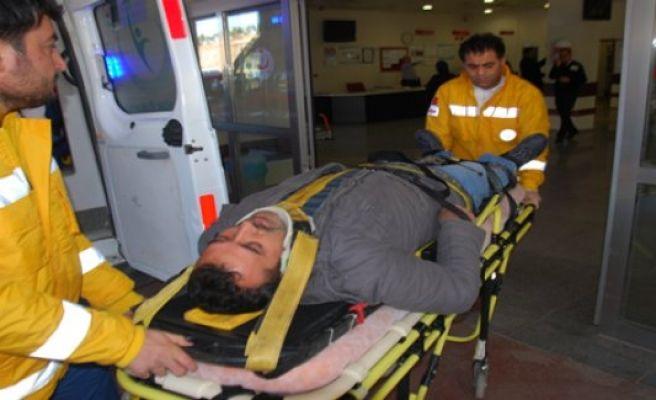 Karaköprü'de trafik kazası,1 yaralı