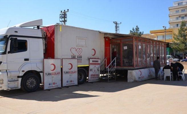 Halfeti'de kan bağışı kampanyası başlatıldı
