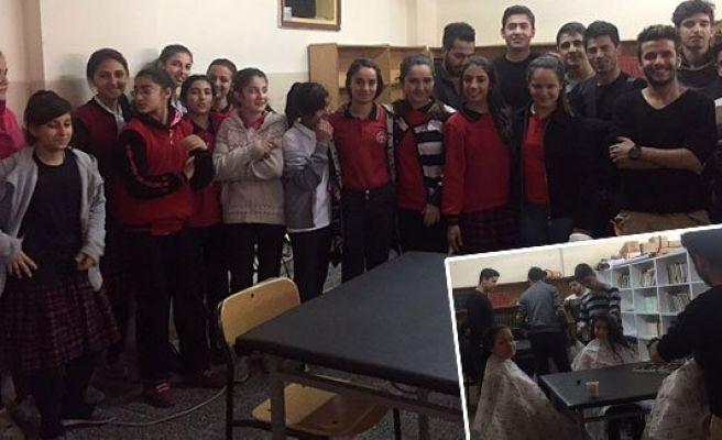 100 Kız öğrenciye saç bakımı yapıldı