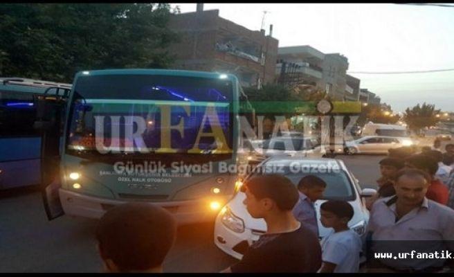 Urfa'da Halk Otobüsü Kaza yaptı, yolcular ölümden döndü